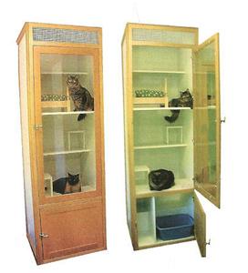 Custom Wooden Cat Houses